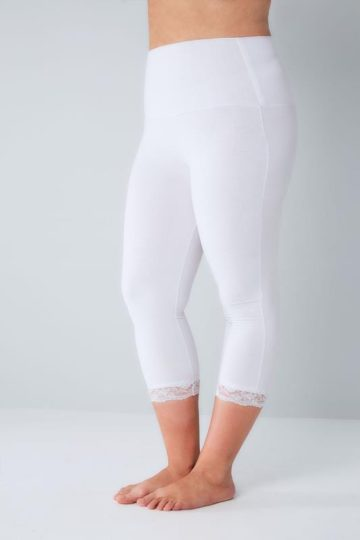 TUMMY CONTROL - Leggings med spets