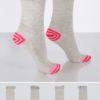 4-pack strumpor med färgglad häl