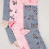 4-pack rosa/blå strumpor och fjärilstryck