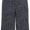 Dra-på shorts med små blommor