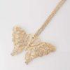 Långt halsband med diamantfjäril