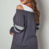 Marinblå cold shoulder tröja
