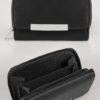 Svart plånbok med dragkedja