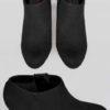 Svarta högklackade boots